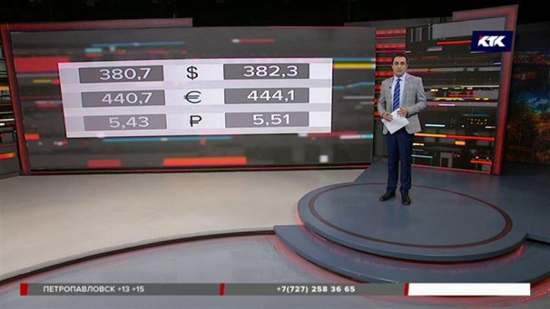 Больше 380 тенге стоит теперь доллар в Казахстане
