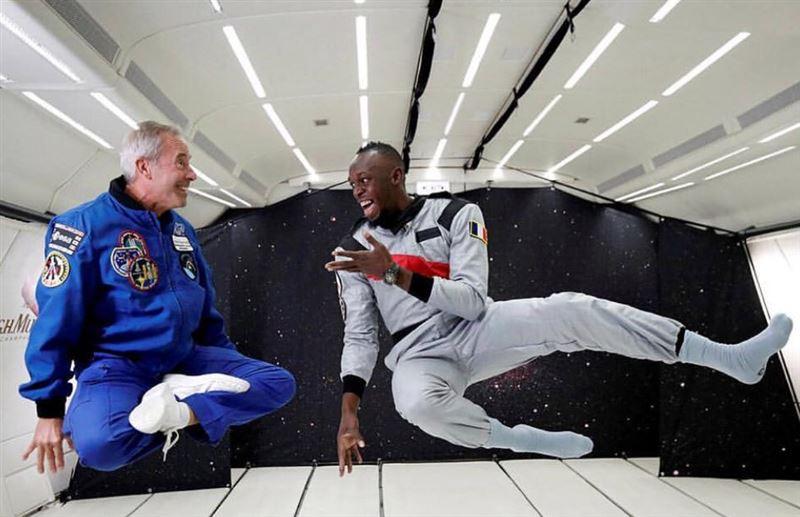 Усэйн Болт одержал победу в космическом забеге