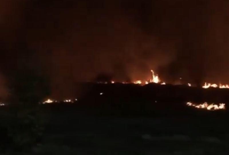 Рядом с проспектом аль-Фараби в Алматы загорелся сухостой