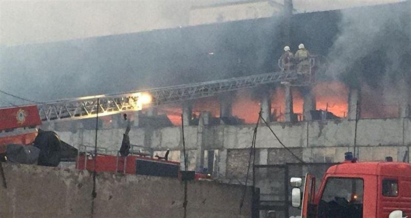Бывший шинный завод горел в Шымкенте