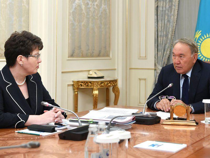 Нурсултан Назарбаев встретился с главой Счетного комитета РК