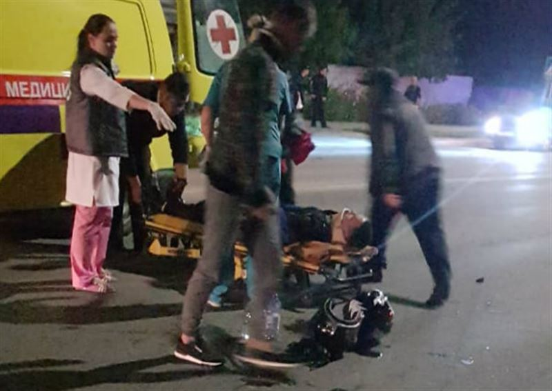 В Костанае задержали водителя мотоцикла, сбившего мужчину и ребенка