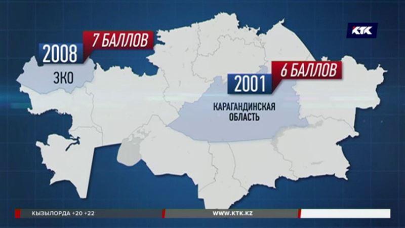 Запад и центр Казахстана объявлены сейсмоопасными зонами