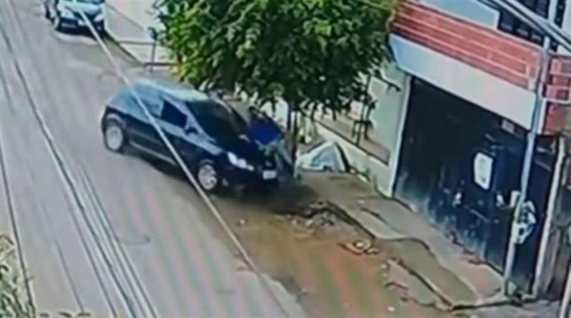 В Бразилии велосипедист чудом выжил в аварии