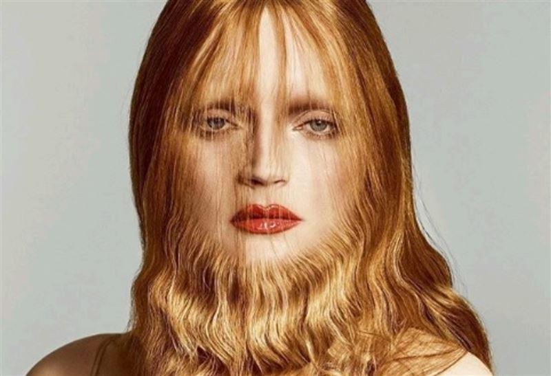 Глянцевый журнал устроил фотосессию с бородатой моделью