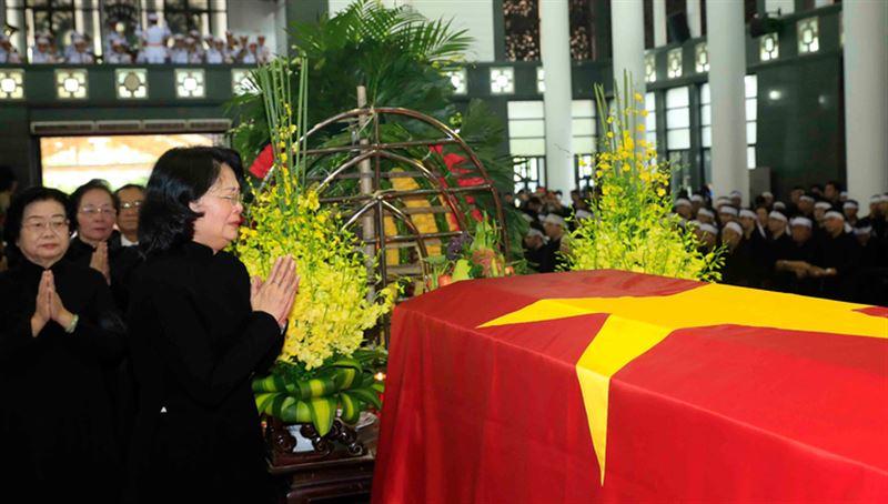 Во Вьетнаме прощаются с президентом страны Чан Дай Куангом