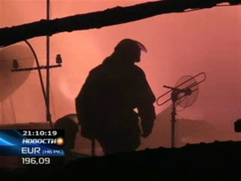 Крупный пожар в Алматы