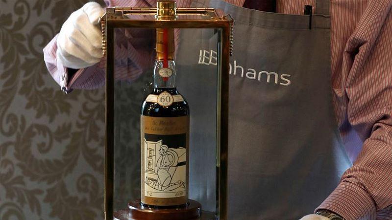 Бутылка 60-летнего виски была продана за рекордные 1,1 миллиона долларов