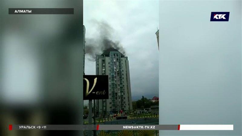 В Алматы горела многоэтажка