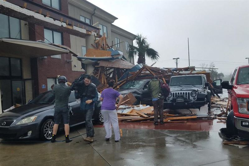 Ураган «Майкл» нанес серьезный ущерб базе ВВС США во Флориде