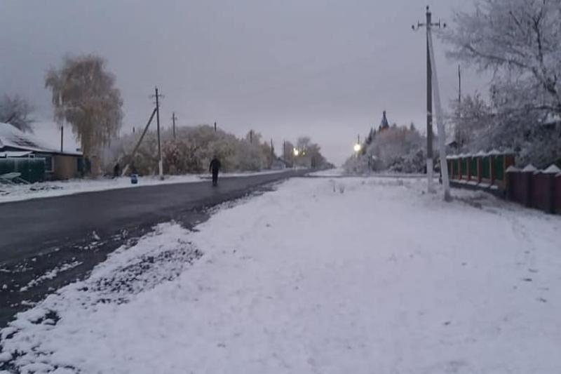 В Северо-Казахстанской области выпал первый снег