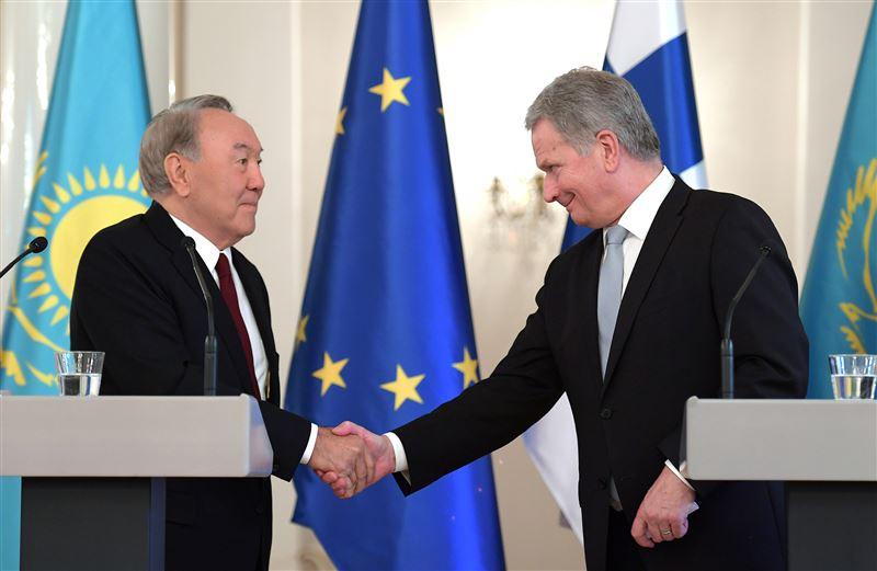 Нурсултан Назарбаев встретился в президентом Финляндской Республики