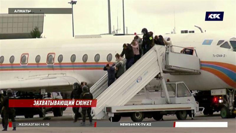 На территории аэропорта Алматы прошли антитеррористические учения