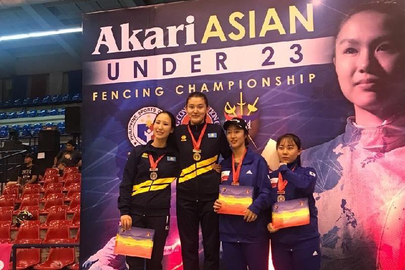 Қазақстандық семсерші қыз Азия чемпионы атанды