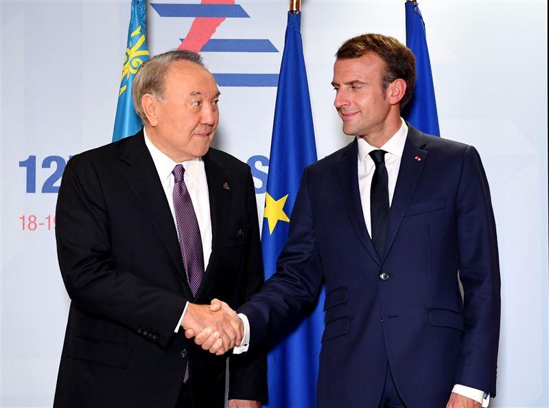Назарбаев встретился с Президентом Франции Эмманюэлем Макроном