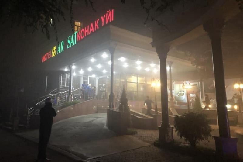 В гостинице Алматы произошел пожар