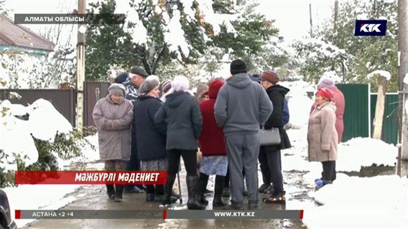 Алматы облысында жұрт кәріз жүйесіне қосылудан бас тартты
