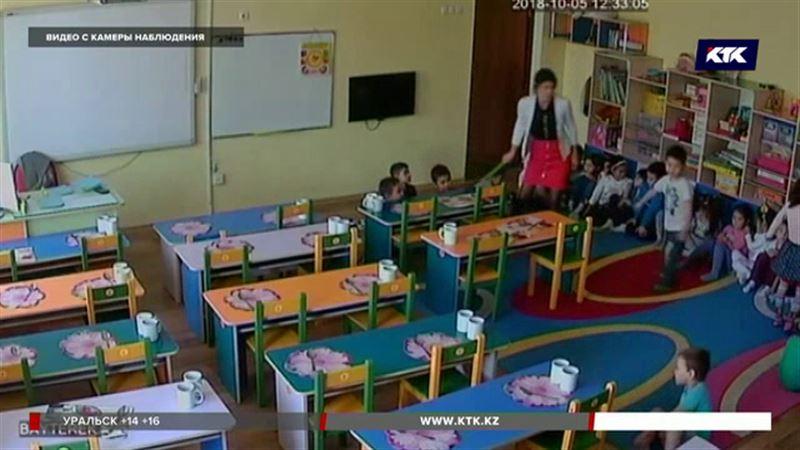 Запись с камер наблюдения в алматинском детсаду шокировала родителей