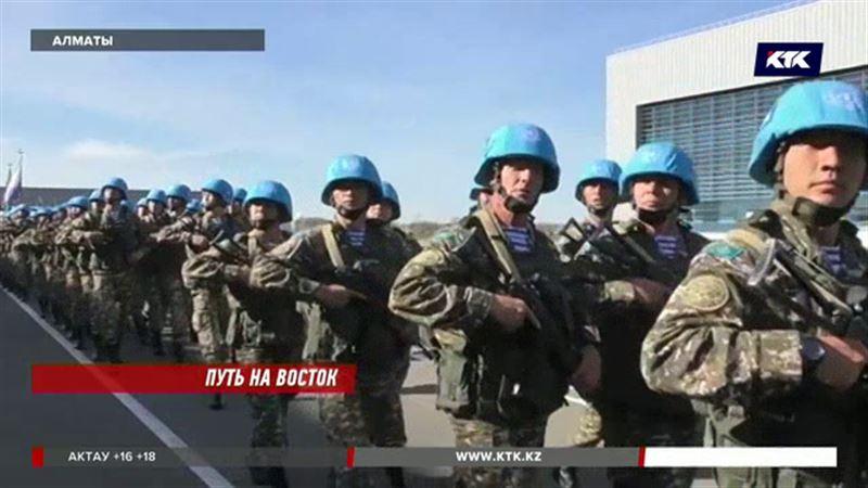 Казахстанские военнослужащие вылетают в Ливан