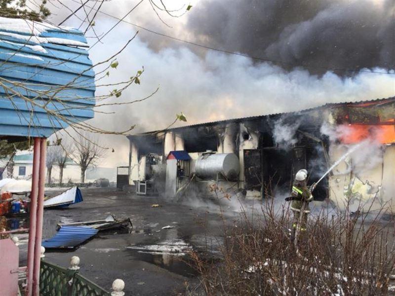 ФОТО: Крупный пожар вспыхнул в Павлодарской области