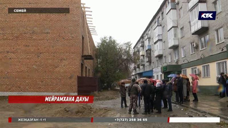 Семей тұрғындары мейрамхана құрылысына қарсы шықты