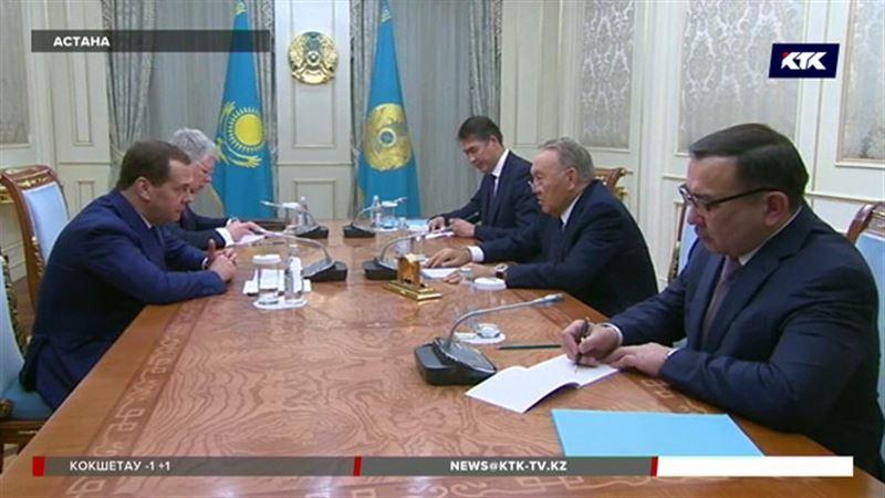 Нурсултан Назарбаев принимал в Акорде Дмитрия Медведева