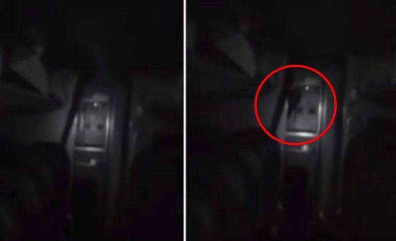 Охранник снял ночью на видео призрак в пустом самолете и сбежал в ужасе