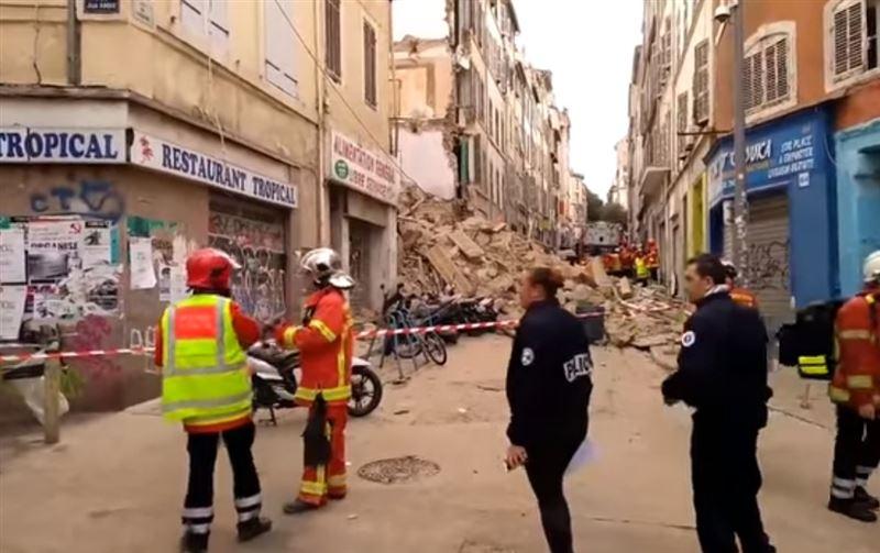 В центре Марселя рухнул жилой дом