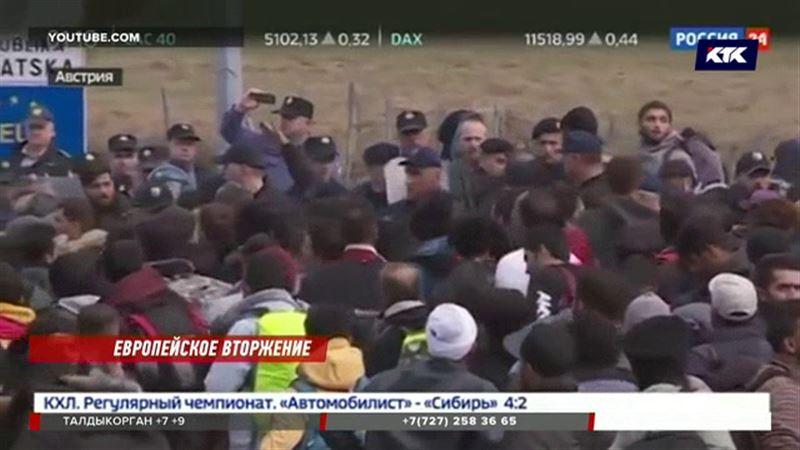Вооруженные ножами мигранты рвутся в Европу