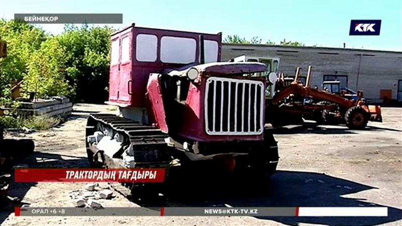 Петропавлда жоғалып табылған трактор ескерткішіне ақыры орын бұйырды