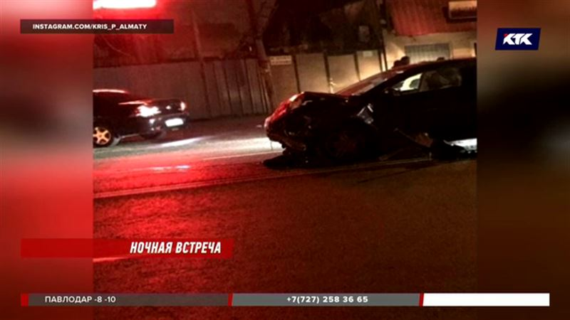 В Алматы арендованный автомобиль спровоцировал аварию