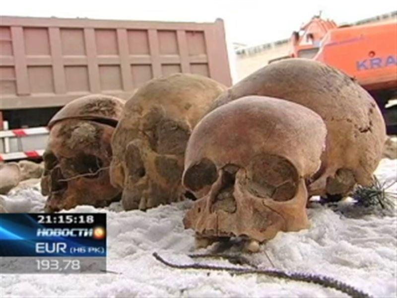 В Усть-Каменогорске строители обнаружили человеческие кости