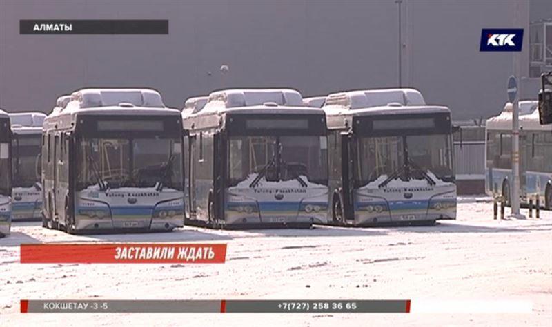 Новые алматинские автобусы оказались не приспособлены к морозной погоде