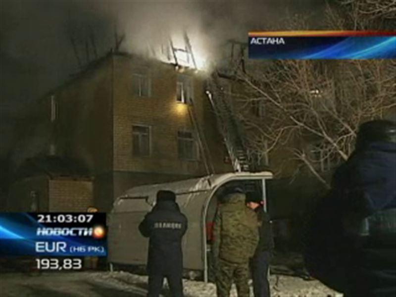 Крупный пожар в Астане. Есть жертвы