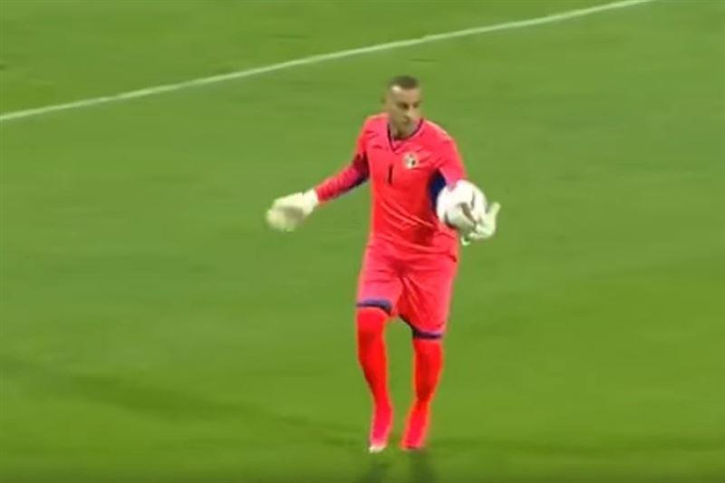 Вратарь сборной Иордании забил гол ударом от своих ворот