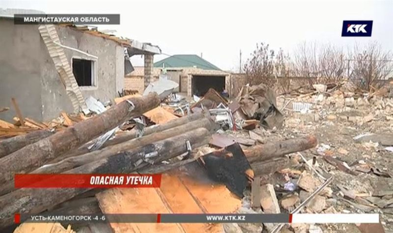 Дом в Жанаозене разрушился из-за утечки из газопровода