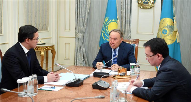 Нурсултан Назарбаев встретился с председателем Нацбанка