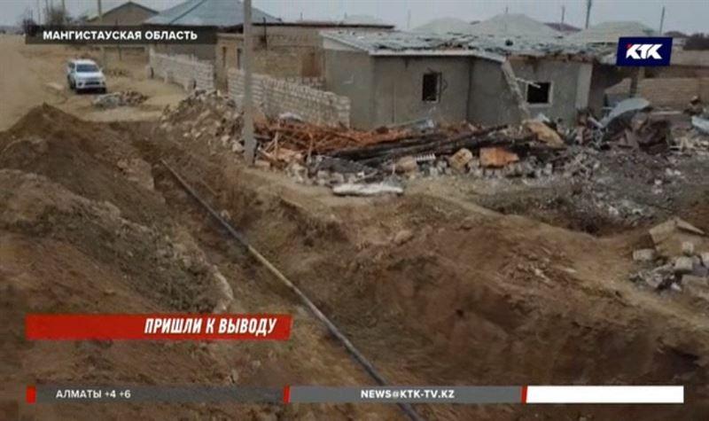 Дом в Жанаозене взорвался из-за утечки из поврежденного газопровода