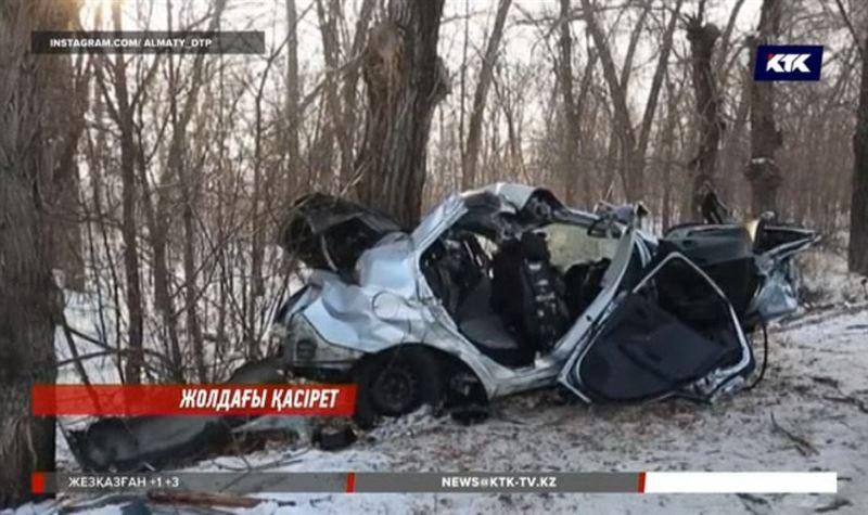 Алматы облысындағы жол апаты екі адамның өмірін жалмады