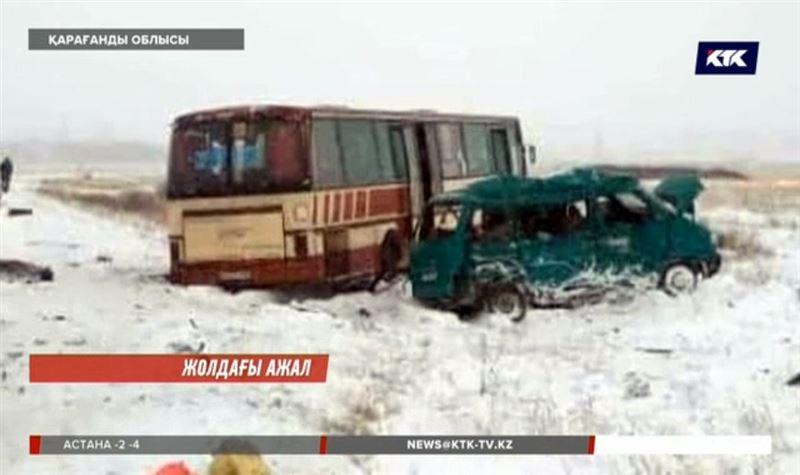 Қарағанды облысында жолаушылар автобусы апатқа ұшырады