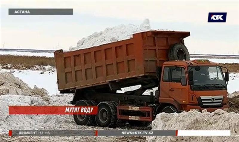 Талдыколь теперь превратили в полигон для снега