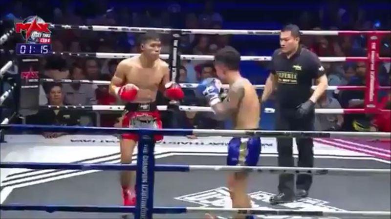 Тайский боксер ударом ноги отправил в нокаут противника и судью
