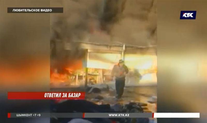 Торговцам в Таразе возместили ущерб за сгоревший товар