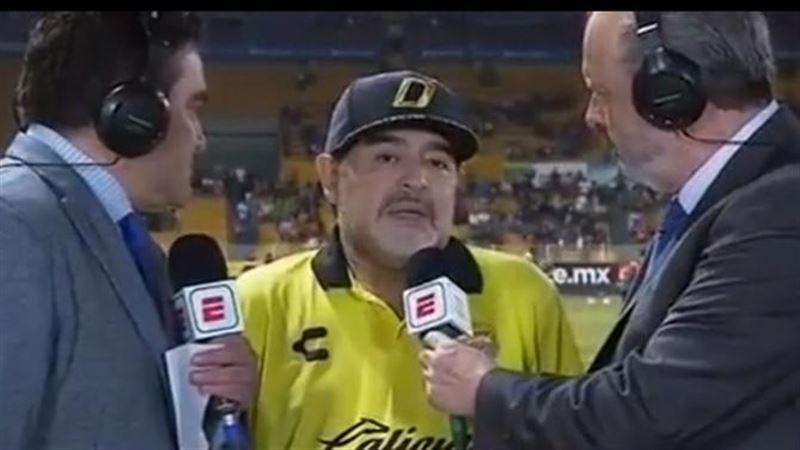 Ответ Диего Марадоны смутил журналистов