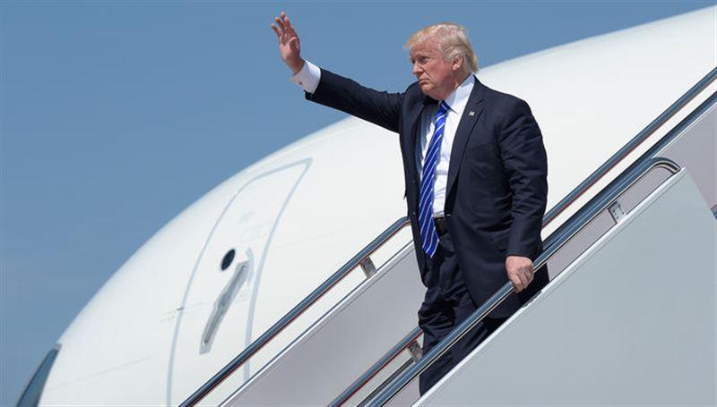 Самолет Трампа получил повреждения в Нью-Йорке