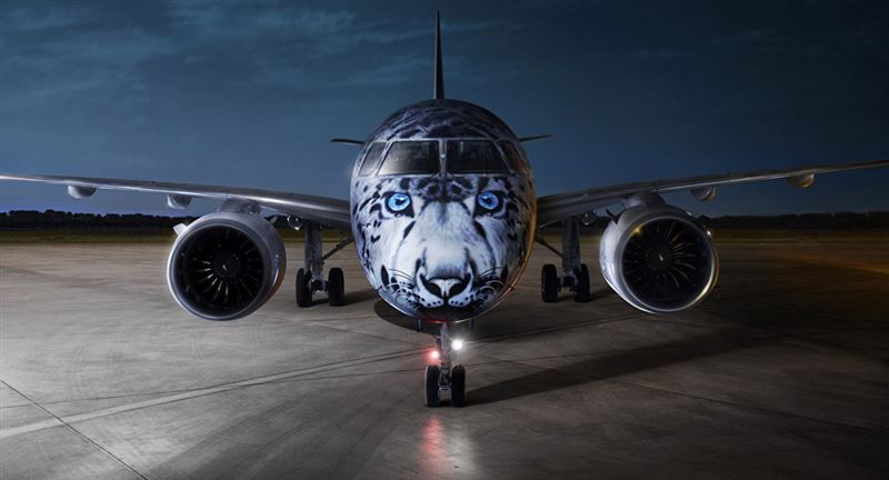 Самолет с изображением снежного барса появится в Казахстане