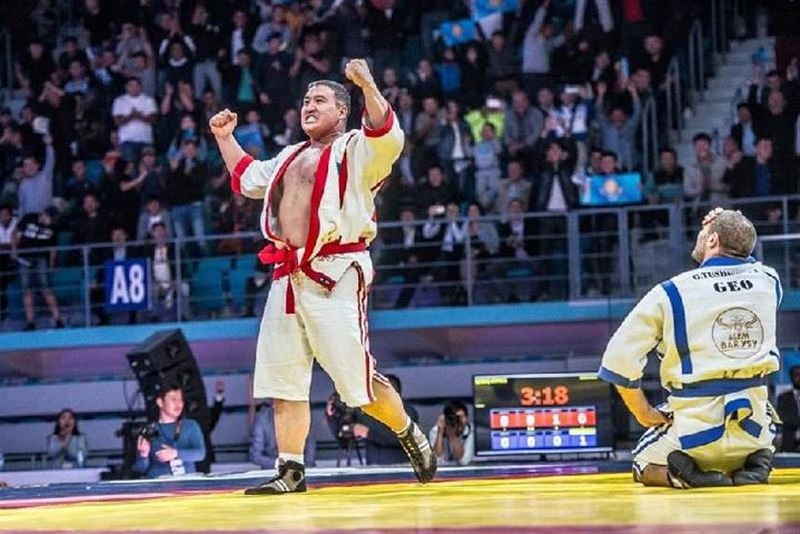 Айбек Нугымаров стал победителем чемпионата мира по казакша курес «Әлем барысы-2018»