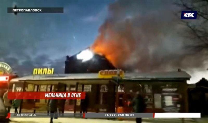 В Петропавловске едва не сгорела старинная мельница