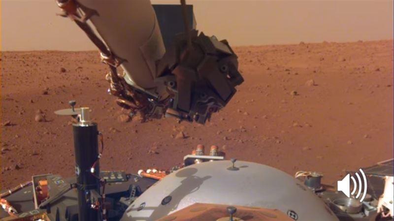 Аппарат NASA записал шум ветра на Марсе