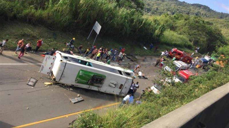 Спортшылар мінген автобус апатқа ұшырап, 13 адам көз жұмды